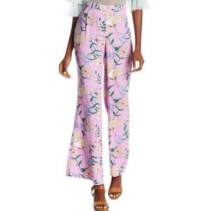 Romeo + Juliet Couture Wide Leg Violet floral pant